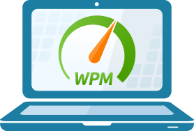 Laptop with a wpm gauge